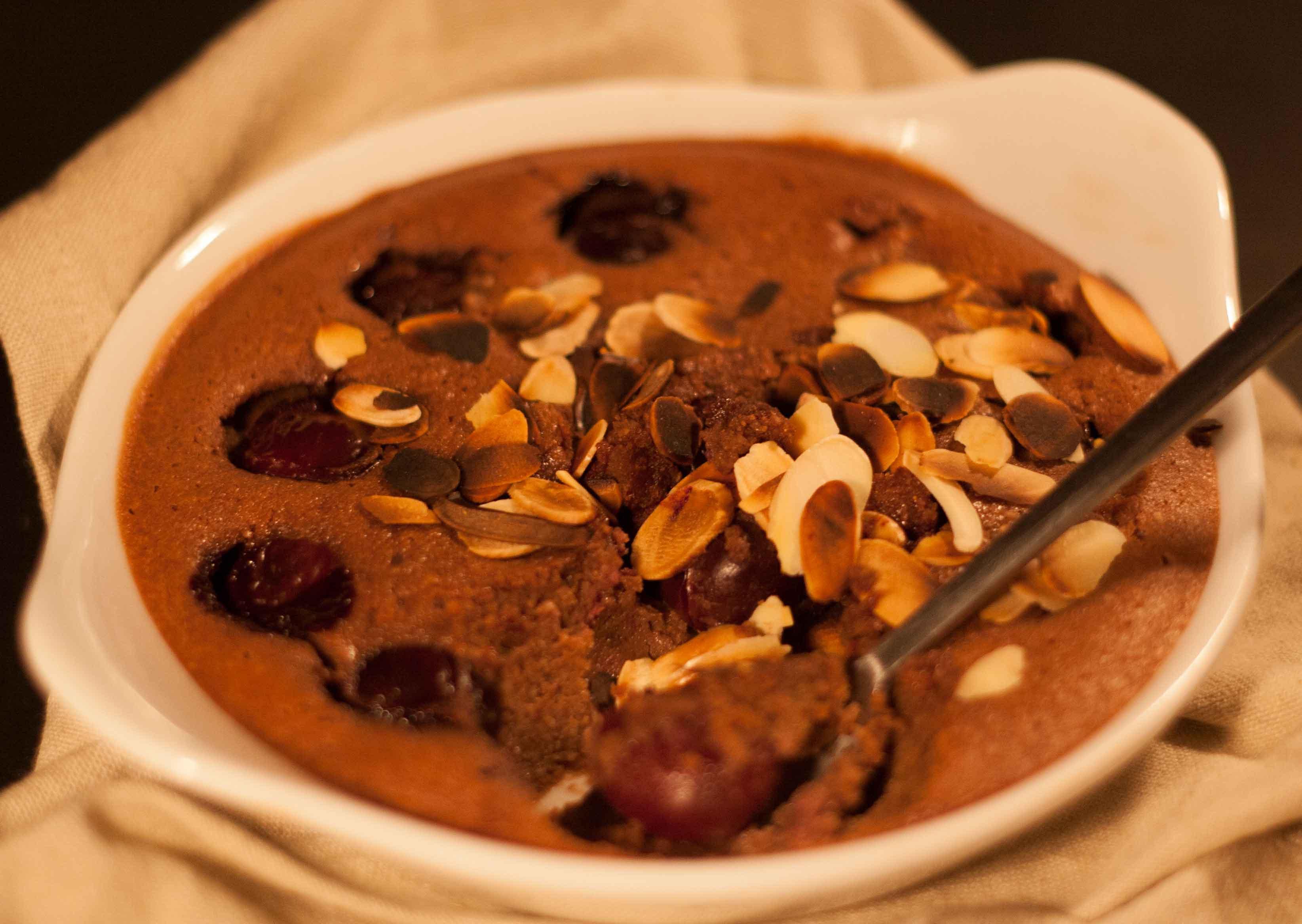 Clafoutis de Cerises et Chocolat