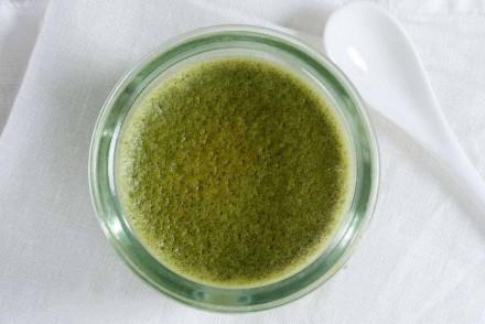 crème au thé vert matcha